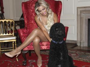 Beyoncé avec le chien de Michelle