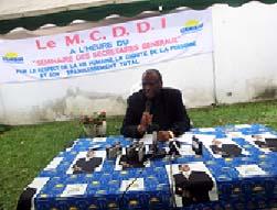 Le Secrétaire général du Mcddi, Guy-Brice Parfait Kolélas