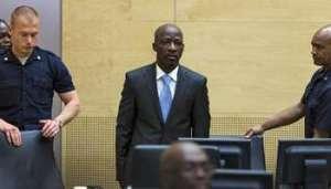 Charles Blé Goudé le 27 mars à La Haye le 27 mars 2014. © AFP