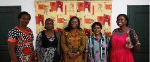 l'équipe de l'AFEMC-CI, au milieu le professeur Abiba Tidou