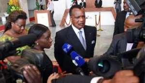 Le président congolais Denis Sassou Nguesso. © Baudouin MOUANDA pour Jeune Afrique