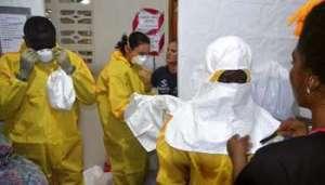 Le 24 juillet 2014 à l'hôpital ELWA de Monrovia au Liberia. © AFP