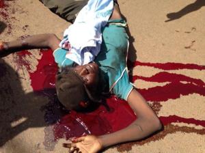 Un manifestant tué à balles réelles le 30octobre 2014, à Ouagadougou