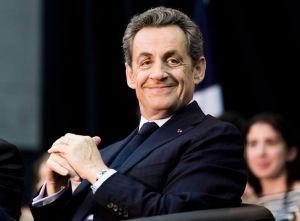 Nicolas Sarkozy, goguenard