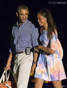 Malia Obama,  une complicité tout sourire!