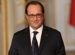 François Hollande: souriant et confiant