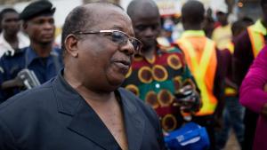 Kyungu Wa Kumwanza, leader de l'Unafec et président de l'Assemblée nationale provinciale du Katanga, ici en décembre 2011.PHIL MOORE / AFP