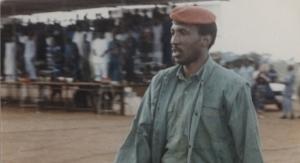 Thomas Sankara à Tenkodogo, le 2 octobre 1987. © Archives Jeune Afrique