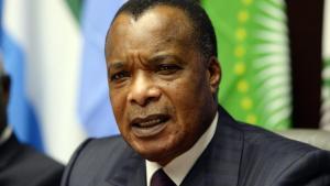 Denis Sassou-Nguesso, ici à Bruxelles le 3 mars 2015, s'est prononcé plusieurs fois en faveur d'une réforme constitutionnelle.AFP PHOTO / THIERRY CHARLIER