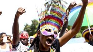 Des militants ougandais de défense des droits des homosexuels en Ouganda.REUTERS/Edward Echwalu