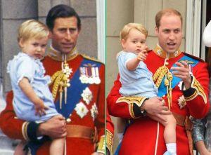Prince Charles et William /Prince William et George