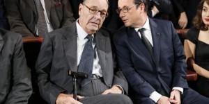 L'ancien président de la Républiuqe Jacques Chirac et l'actuel président François Hollande, le 21 novembre 2014. © AFP/Patrick Kovarik