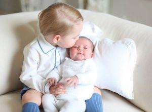 George et sa sœur Charlotte