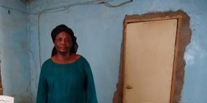 Ginette Ngarbay a accouché de sa fille dans une des prisons du régime Habré. © Rémi Carayol, pour J. A