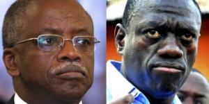 Les deux opposants politiques, Amama Mbabazi et Kizza Besigye, ont été arrêtés par la police ougandaise. © Alexander Zemlianichenko et Ronald Kabuubi/AP/SIPA