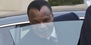 Le président congolais, Denis Sassou Nguesso, à Paris, le 8 avril 2013. © Jacques Brinon/AP/SIPA
