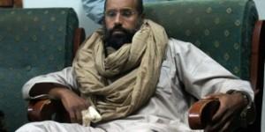 Seif al-islam Kadhafi après sa capture par les révolutionnaires de Zintan en 2011. © Ammar El-Darwish/AP/SIPA