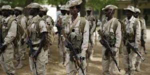 Armée tchadienne à N'Djamena , mars 2015. © Jerome Delay/AP/SIPA