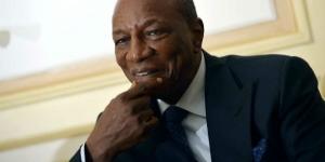 Le président guinéen, Alpha Condé. © Miguel Medina/AFP