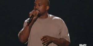 Le rappeur Kanye West lors de la cérémonie des MTV Video Music Awards, dimanche 30 août. © Capture d'écran MTV.