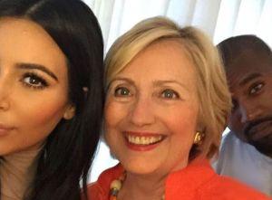 Kim Kardashian, Hillary Clinton et Kan West