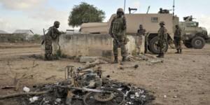 Des soldats ougandais de l'Amisom, le 31 août 2014. © Tobin Jones/AP/SIPA