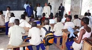 Salle de classe au Congo