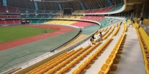 Point névralgique du nouveau complexe sportif, le stade de Kintélé (60 000 places). © BAUDOUIN MOUANDA POUR J.A