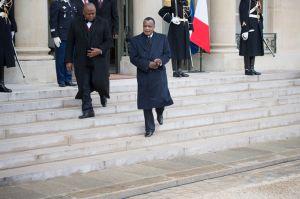 Denis Sassou-Nguesso, à l'Elysée, en avril 2013. Crédits : BERTRAND LANGLOIS / AFP