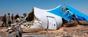 Les débris de l'A321 de Metrojet, qui s'est écrasé dans le Sinaï, samedi 31 octobre.  © Maxim Grigoryev