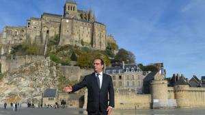 François Hollande au Mont-Saint-Michel, le 31 octobre. Crédits photo : Liewig Christian/Liewig Christian/ABACA