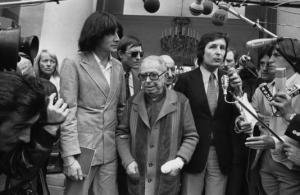 André Glucksmann et Jean-Paul Sartre, à l'Elysée, en 1979. ANONYMOUS/