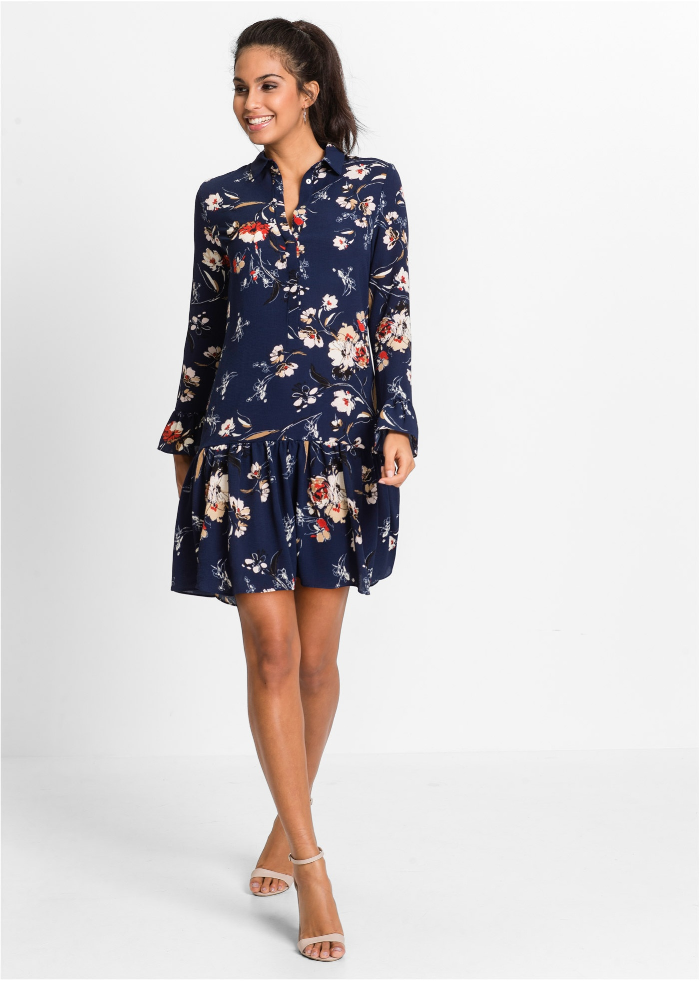 Hafren fit and flare scallop dress pictures